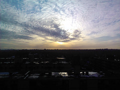 Winter Sunset (Diego3336) Tags: cameraphone winter sunset sky cloud sun toronto ontario canada color reflection water colors mobile skyline clouds buildings reflections twilight view mississauga e900 woolner windowsphone7 optimus7 lgoptimus7 lge900