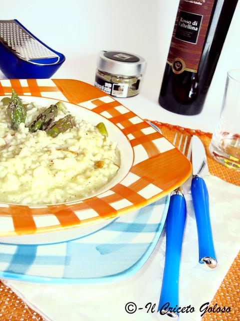 Risotto affumicato con asparagi e pesto di frutta secca 2