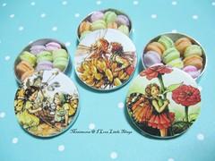 Dollhouse Miniature Fairy Macaron Tins