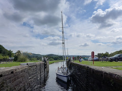 Crinan Canal (RIch-ART In PIXELS) Tags: crinancanal scotl crinan canal water sailboat sky leicadlux6 dlux6 leica unitedkingdom scotland lock