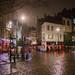 Brouillard nocturne sur Bruxelles