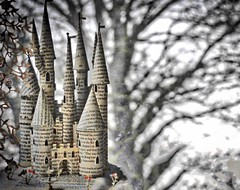 Castle on the Hill - Sliders Sunday (Feathering the Nest) Tags: sliderssunday hss magic fairytale paper card castleonthehill tree bokeh clanflickr words books hayonwye edsheeran
