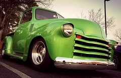 Fuquay Cruisers 2/23/2017 (osubuckialum) Tags: 2017 truck pickup carshow show fuquay fuquayvarina fuquaycruisers 1948 48 chevy chevrolet chrome custom phone iphone phonepic edit ipiccy green