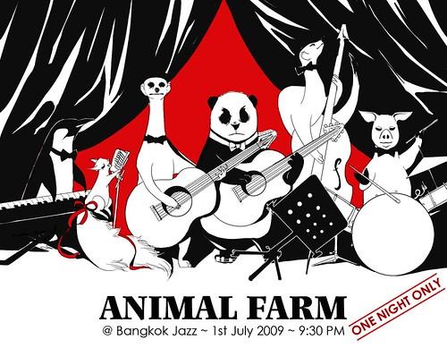 animal farm . band poster