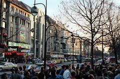 48. //50/1k/1291/1f - Kurfurstendam / Marmorhaus in West Berlin 1987 (EuroVizion) Tags: trip travel vacation berlin film 35mm germany deutschland photo kino europe 1987 picture pic 80s 87 ufa marmorhaus kurfurstendamn kudamn houseofmarble
