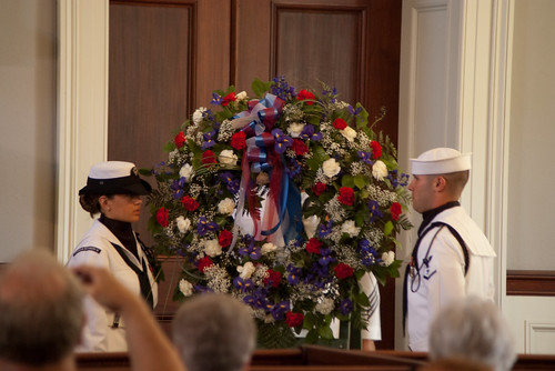John Quincy Adams Wreath Laying Ceremony - Presidential Wreath