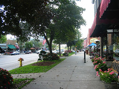downtown Saratoga Springs, NY (by: Shane Thacker, creative commons license)