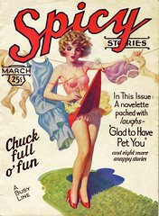 Spicy!! (bollesbiggestfan1) Tags: retro pulp flapper pinup enochbolles spicystories