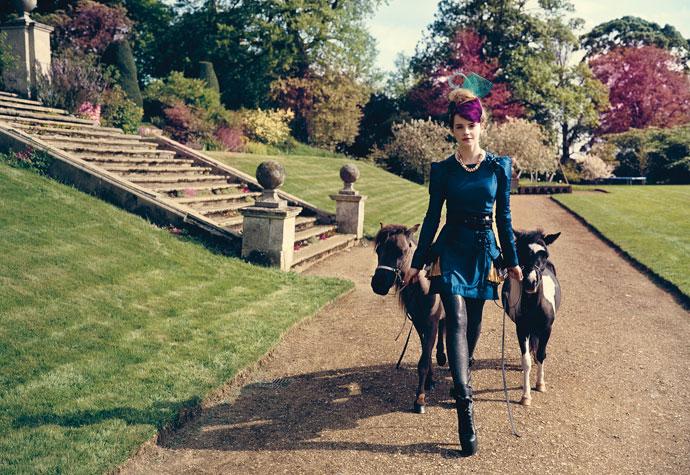 Emma Watson con ponies