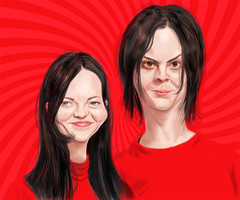 The White Stripes (Mark Hammermeister) Tags: music musicians photoshop painting digitalpainting rockmusic brushes caricature alternative rockandroll whitestripes thewhitestripes modernrock jackwhite megwhite