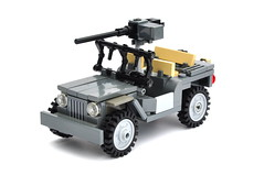 Willys Jeep (small revision) (The Ranger of Awesomeness) Tags: light lego wwii utility v vehicle