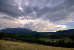 Nature's majesty (That bloke) Tags: trees arizona sky lake mountains grass pine clouds forest az flagstaff