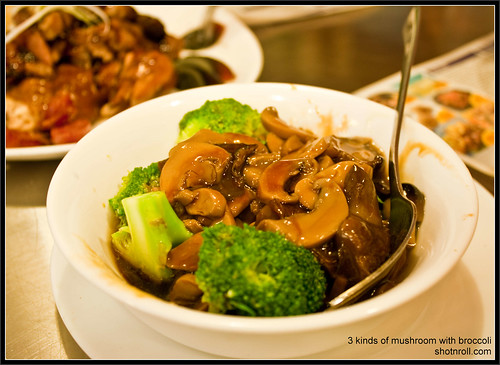 3 Kinds of Mushroom with Broccoli @ North Park