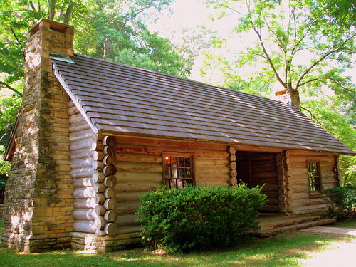 Birthplace of a Denomintaion 2: replica McAdow Cabin