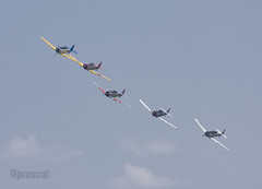 Texan Formation (ravenscroft) Tags: canon fighter wwii 70300mm texan t6 snj t6texan 40d snjtexan canon40d readingpennsylvaniareading pawwiiweekendwwiiweekendwwiiairshowwwiiairshowairshowworldwariimidatlanticairmuseumaviationaircraftairplane