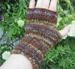 """Enchanted Forest"" fingerless mitts from handspun alpaca"