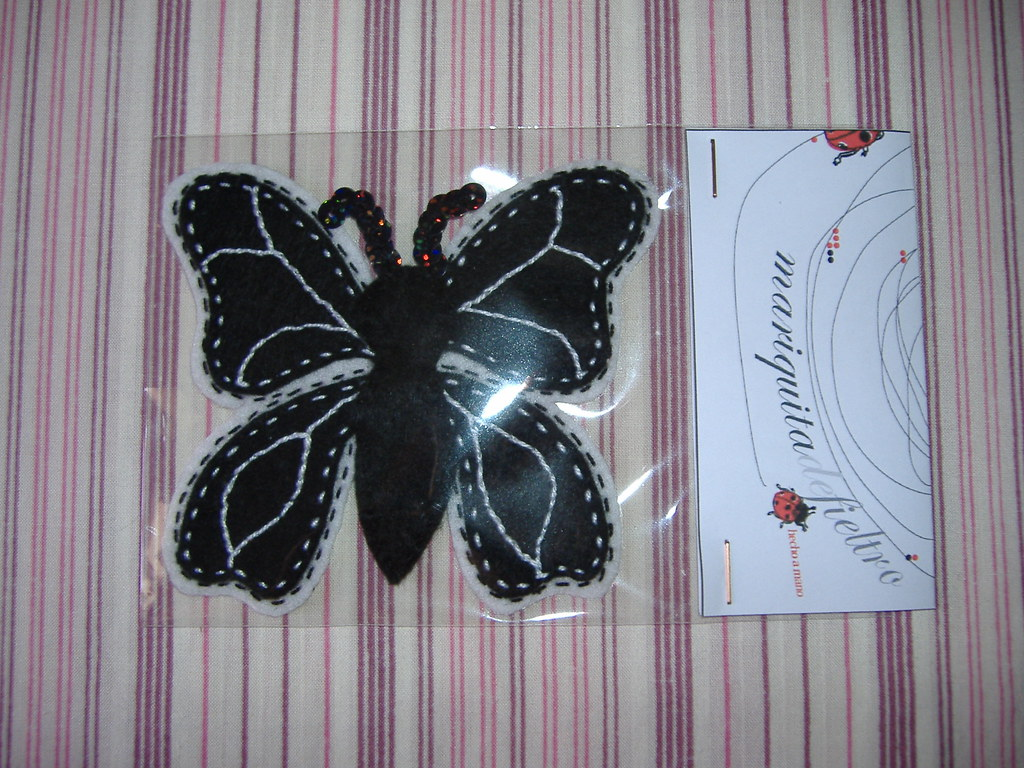 The Worlds Most Recently Posted Photos Of Fieltro And Mariposa Lidia Butterfly Blanco Y Negro Mariquita De Tags Broche Handmade Brooch Felt