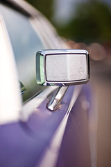 continental (Ansel Olson) Tags: white green classic car vintage mirror automobile dof view purple bokeh antique top side violet continental lincoln dashboard collectible 1970s shag pinstripe