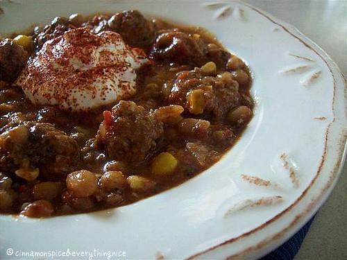 Chipotle Meatball Chili