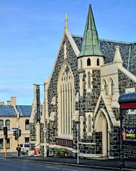 Fortune favours the Arts... ((nz)dave) Tags: street newzealand building brick stone architecture corner outdoors lights construction nikon theater traffic mason performingarts nz dunedin fortunetheatre d300 sigma30mmf14exdchsm