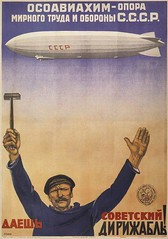 USSR Propoganda Poster (lazzo51) Tags: poster aviation science ussr blimps propoganda airships zeppelins luftschiff dirigibles