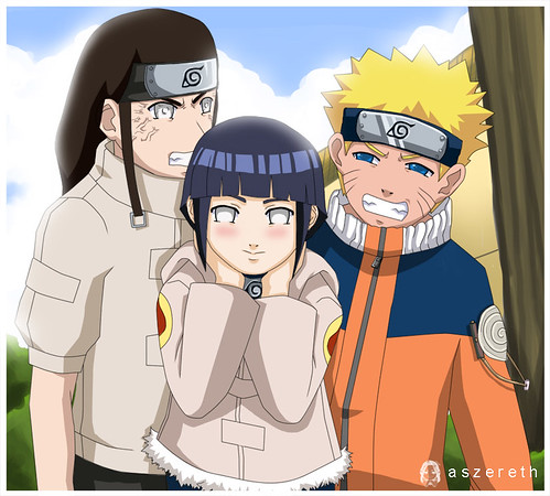 of Naruto, Sasuke and Sakura, headed by their leader, Kakashi Hatake.