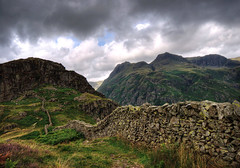 England: Cumbria - Side Pike and The Langdale Pikes (Tim Blessed) Tags: uk sky mountains nature clouds landscapes countryside scenery cumbria lakedistrictnationalpark abigfave singlerawtonemapped