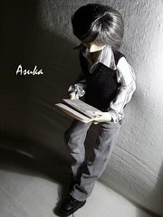 newspaper (~Asuka~) Tags: outfit handmade mo casual bjd dollfie msd dollzone