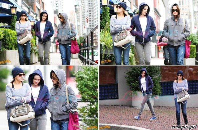 Kristen Stewart in Vancouver with Elizabeth Reaser, Nikki Reed, and Paris Latsis by editha.VAMPIRE GIRL<333