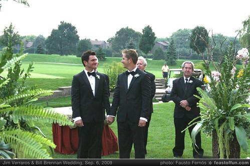 Photos from Jim Verraros and Bill Brennan's Fabulous Gay Wedding