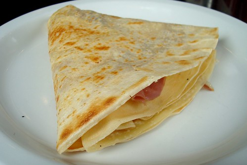 Prosciutto Brie and Egg Crepe at Cafe Crepe in Santa Monica