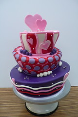 LOVE pink purple red mad hatter (CAKE Amsterdam - Cakes by ZOBOT) Tags: birthday wedding cakes cake cupcakes utrecht sweet things cupcake marzipan stacked specialty fondant tiered bruidstaart zoegottehrer
