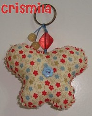 Chaveiro de Borboleta em tecido (crismilaartesanato) Tags: borboleta chaveiro