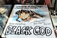 DSC_0190 (shine_blitz_on) Tags: illustration square originalart manga convention squareenix enix comiccon manhwa sdcc exhibithall shikishi sandiegocomiccon squeenix blackgod sungwoopark