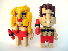CubeDudes Pam and The Hoff (nolnet) Tags: lego pam thehoff baywatch cubedudes