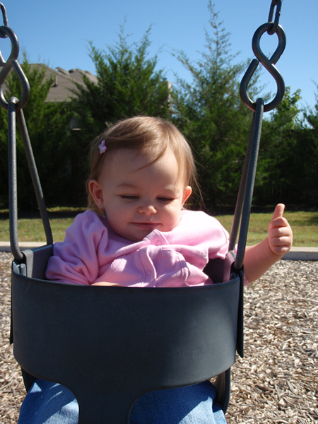 baby girl toddler swinging