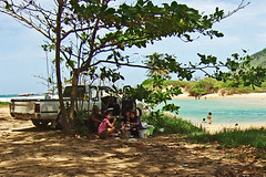 Picnickers at Nai Harn Beach, Phuket
