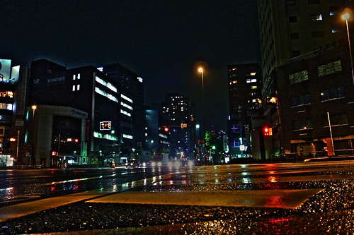 Kasuga Intersection of rain