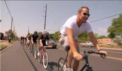 Lance Armstrong on Hybridbike