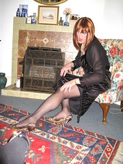 Confucius say.... (Julie Bracken) Tags: old red portrait fashion hair tv cd mini skirt crossdressing tgirl transgender mature tranny transvestite pantyhose crossdresser crossdress tg trannie mtf travesti m2f feminized enfemme xdresser tgurl feminised transsisters julieb85