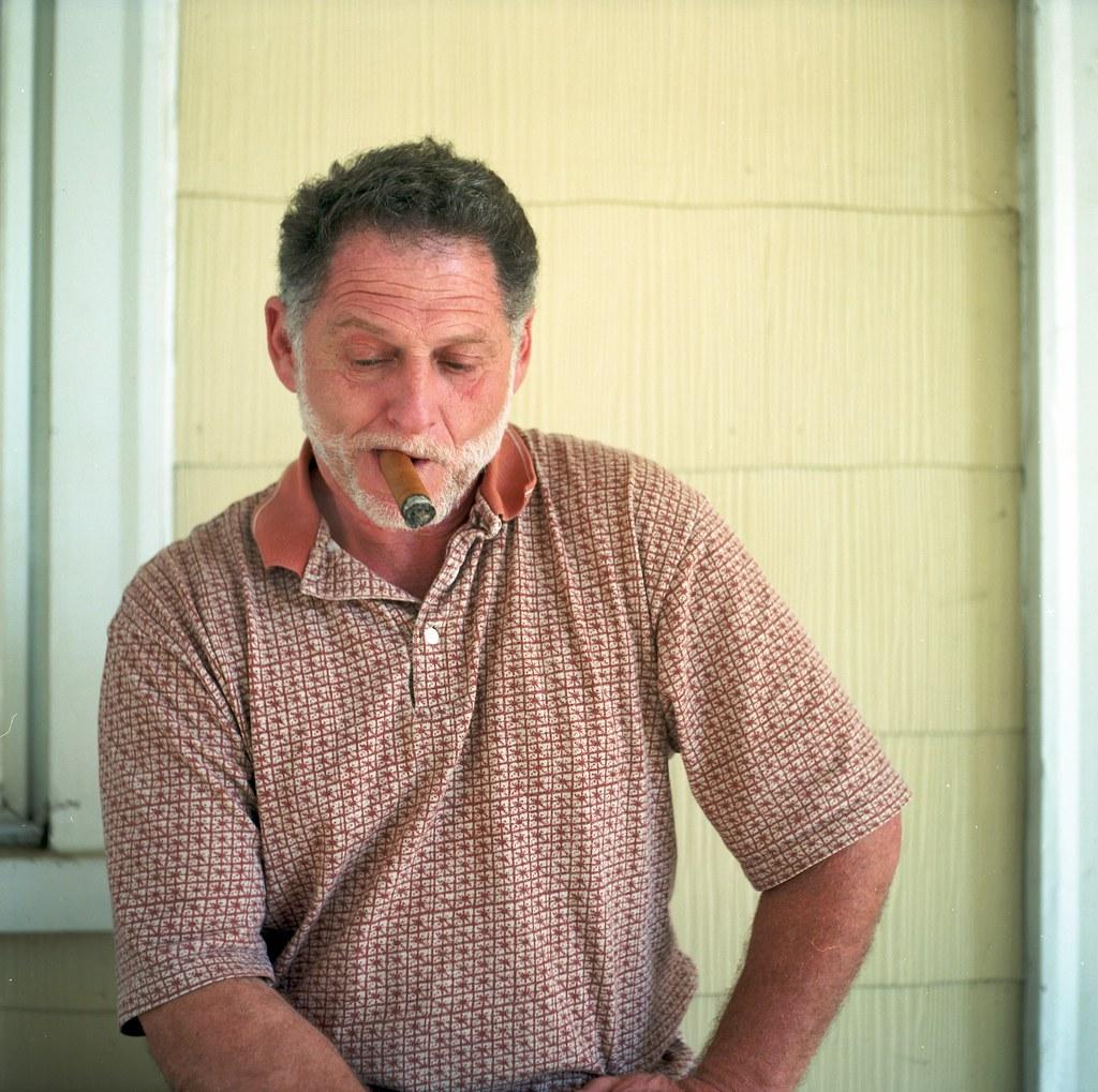 paulie smoking a cigar