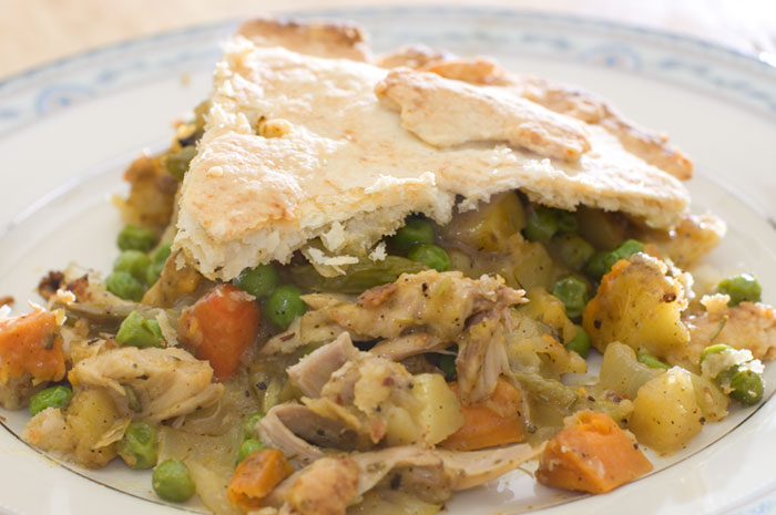 chicken pot pie slice