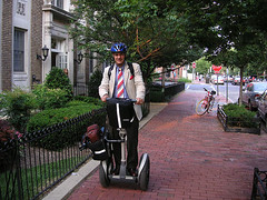 a Segway on a DC sidewalk (by: Nelson Pavlosky, creative commons license)