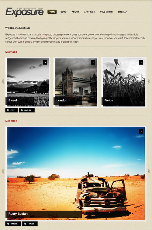Exposure – WooThemes Premium Wordpress Theme