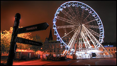 Good Morning Malm - Stortorget Ferris Wheel - Stortorget parisierhjul (anders.rorgren) Tags: morning color nightshot wide ferriswheel 169 malm hdr morgon vidvinkel stortoget goodmorningmalm parisierhjul