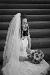 The Bride in Black and White (jgarber) Tags: sanfrancisco california 15fav bouquet cindyli cindymattwed