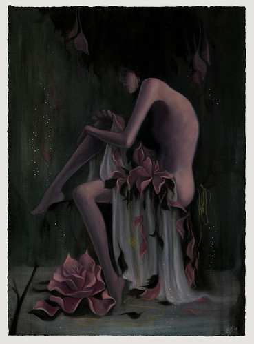 "Broken(Secrets). 18""x25"". Oil & Acrylic on Paper. ©2009"