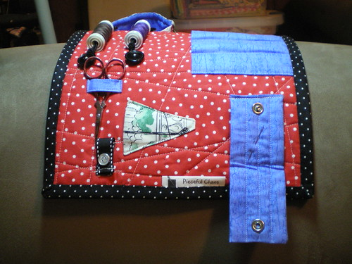 Sewing caddy in use