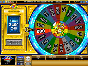 free Wheel of Wealth Multiplayer gamble bonus game prize