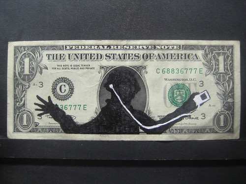 Drawn Dollar Bill iPod